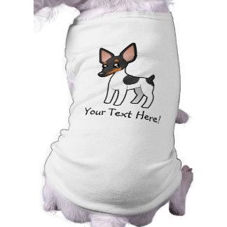 Cartoon Rat Terrier / Toy Fox Terrier Pet T-shirt