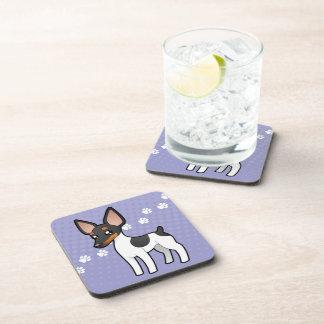 Cartoon Rat Terrier / Toy Fox Terrier Drink Coaster