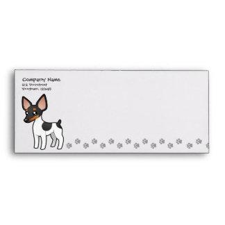 Cartoon Rat Terrier / Toy Fox Terrier Envelopes