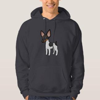 Cartoon Rat Terrier / Toy Fox Terrier Hooded Sweatshirt