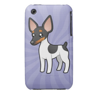 Cartoon Rat Terrier / Toy Fox Terrier iPhone 3 Case-Mate Case