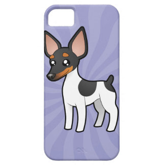 Cartoon Rat Terrier / Toy Fox Terrier iPhone SE/5/5s Case