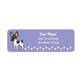 Cartoon Rat Terrier / Toy Fox Terrier Label