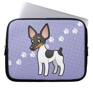 Cartoon Rat Terrier / Toy Fox Terrier Laptop Sleeve
