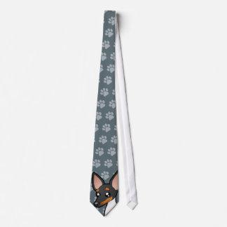 Cartoon Rat Terrier / Toy Fox Terrier Neck Tie