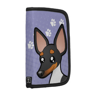 Cartoon Rat Terrier / Toy Fox Terrier Folio Planner