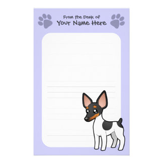 Cartoon Rat Terrier / Toy Fox Terrier Stationery