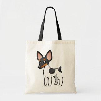 Cartoon Rat Terrier / Toy Fox Terrier Tote Bag