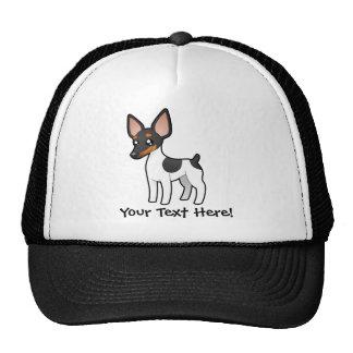 Cartoon Rat Terrier / Toy Fox Terrier Trucker Hat