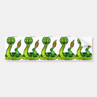 Cartoon Rattlesnake Bumper Sticker
