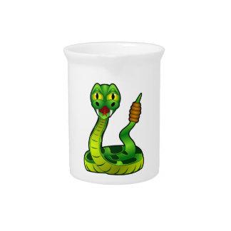 Cartoon Rattlesnake Beverage Pitcher