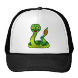 cartoon rattlesnake trucker hat