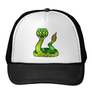 Cartoon Rattlesnake Trucker Hat
