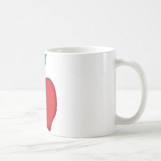 Cartoon Red Apple Coffee Mug