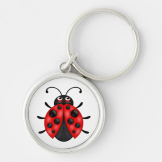 Cartoon Red Black Ladybug Keychains