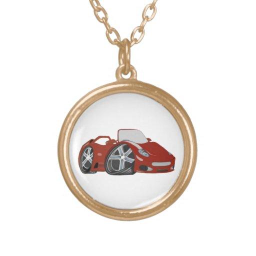 Cartoon Red Car Art Necklaces