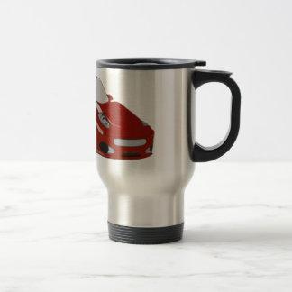Cartoon Red Car Art Travel Mug