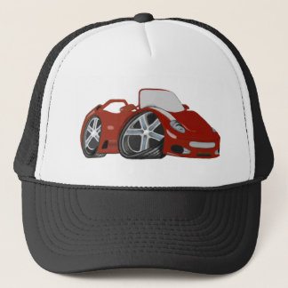 Cartoon Red Car Art Trucker Hat