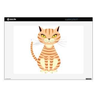 """Cartoon red cat skins for 15"""" laptops"""
