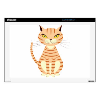 Cartoon red cat skins for laptops