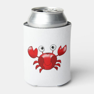 Cartoon red crab can cooler