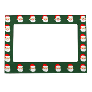 cartoon red green santa magnetic photo frame