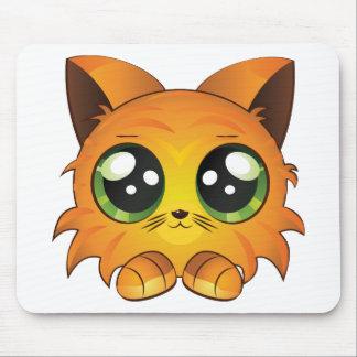 Cartoon red kitten mouse pad