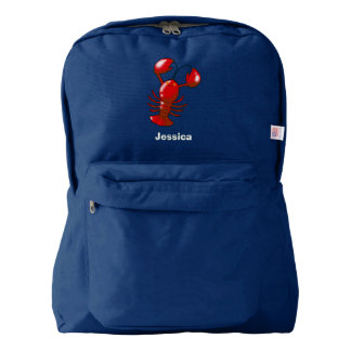 cartoon red lobster backpack