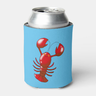 cartoon red lobster can cooler