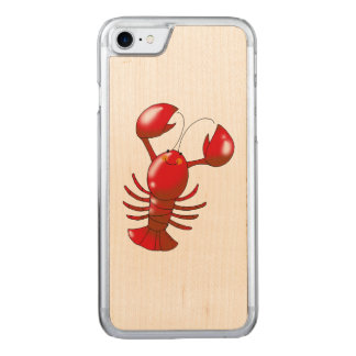 cartoon red lobster carved iPhone 7 case
