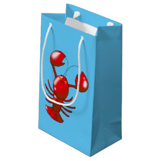 cartoon red lobster small gift bag