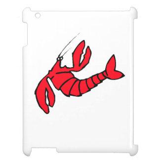 Cartoon Red Lobster iPad Case