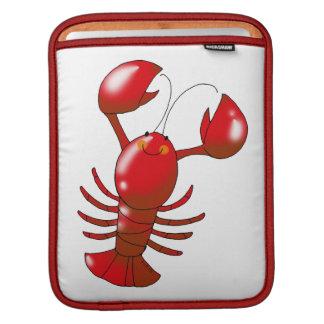 cartoon red lobster iPad sleeve