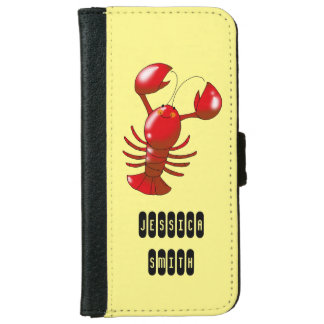 cartoon red lobster iPhone 6/6s wallet case