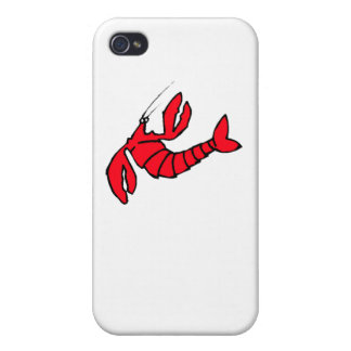 Cartoon Red Lobster Case For iPhone 4