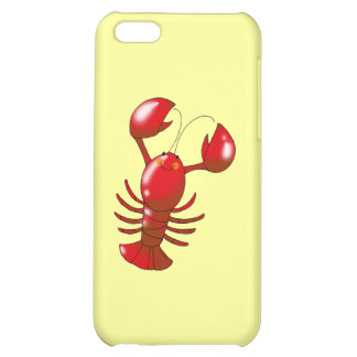 Cartoon red lobster iPhone 5C cases