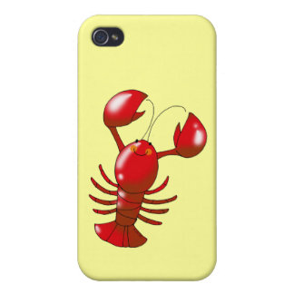 Cartoon red lobster iPhone 4/4S cases