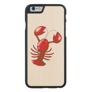 cartoon red lobster carved® maple iPhone 6 case