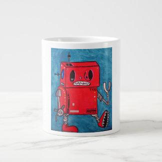 Cartoon Red Robot Coffee Mug