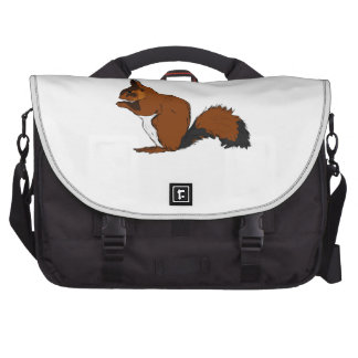 Cartoon Red Squirrel Laptop Bags