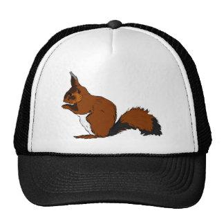 Cartoon Red Squirrel Trucker Hat