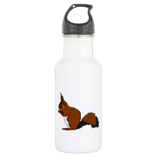 Cartoon Red Squirrel Water Bottle