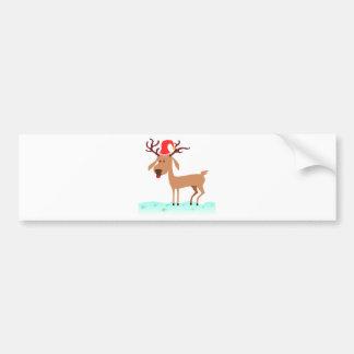Cartoon Reindeer Bumper Sticker