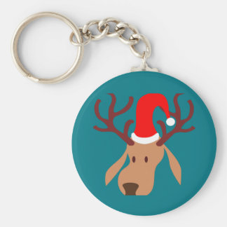 Cartoon Reindeer Cute Chic Christmas Gift Keychain