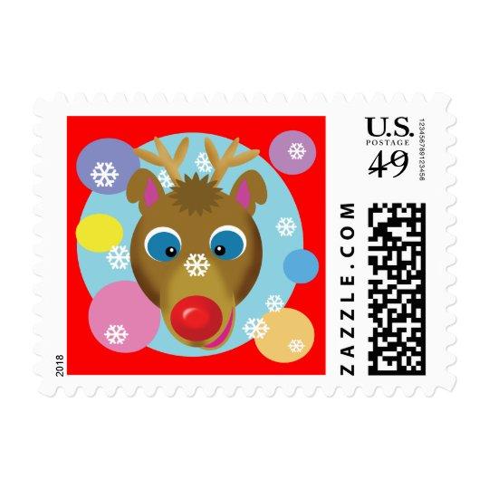 Cartoon Reindeer Stamps