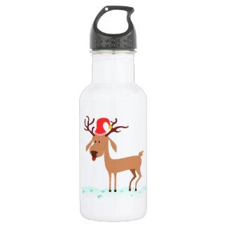 Cartoon Reindeer Water Bottle
