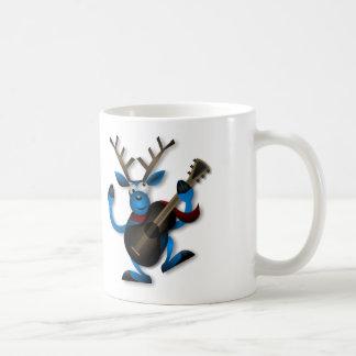Cartoon Reindeer - White Coffee Mug