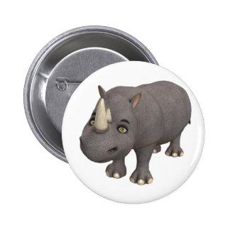 Cartoon Rhino Button