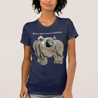 Cartoon Rhino Custom Dark T-shirt / Apparel