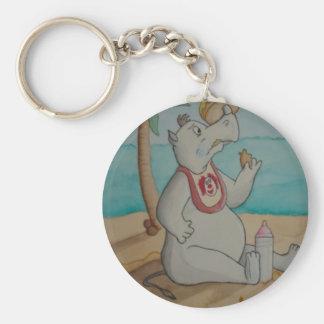 Cartoon Rhino Keychain